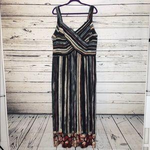 Roz & Ali Woman 22 Dressbarn Pleated Maxi Dress